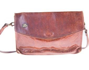 The Bridge Dark Brown 80's Leather Shoulder Bag