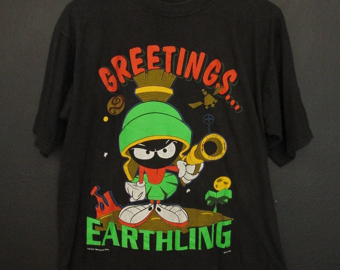 Marvin the Martian Greetings...Earthling 1994 vintage Tshirt
