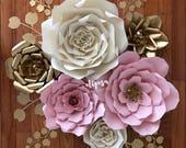 6 pc Giant Paper Flower set, Nursery, Birthday, Decor,