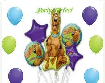 ON SALE 11 pc Large Scooby Doo Birthday party Balloon set