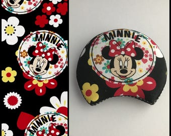 Minnie Mouse with Flowers Mouse Ears