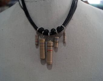 Beige components necklace