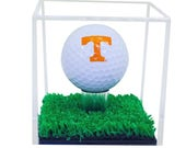 Deluxe Clear Acrylic Golf Ball Display Case with Turf Base (A046-TB)