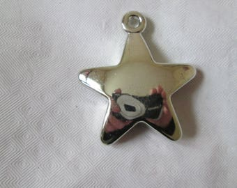 1 set of 3 charms silver shape asterisk star