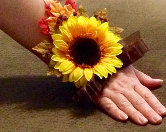 Sunflower dreams wrist corsage