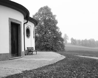 View from a Chapel- Home Decor Gift / Travel / Print / Wall Art / Adventure/ Wanderlust / Fine Art/ Monochrome/ Germany/ Europe/ Bavaria