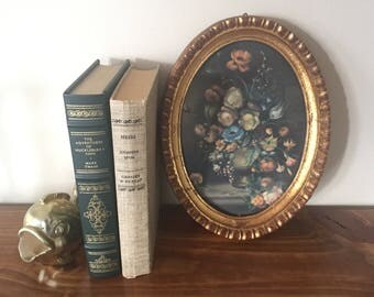 Italian Floral Print and Gold Frame