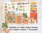Boho Chic sampler stickers - for Happy Planner, Erin Condren Vertical and Horizontal Planners - summer lounge cat wild heart