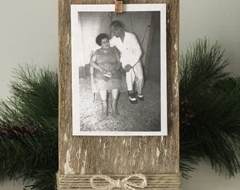 Reclaimed wood picture frame, rustic table top frame, modern rustic frame, small reclaimed wood picture frame, modern rustic picture frame