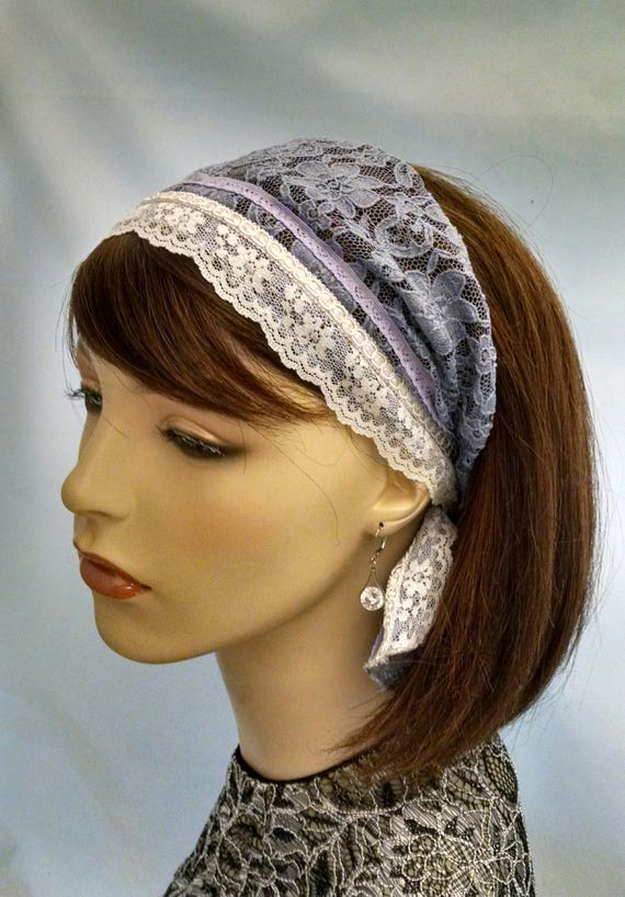 Graceful lacey headband with short tails, headbands, hair accessories, accessories