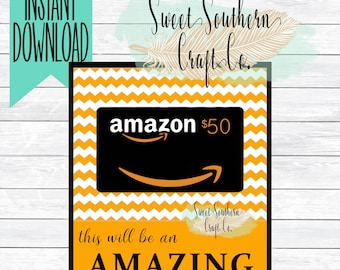 INSTANT DOWNLOAD*This Will be An Amazing Year With You As My Teacher!Amazon Gift Card Printable,Teacher Appreciation,Back to School Teacher