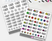 Water Plants Doodles (45 matte stickers, for ECLP, Happy Planner, Filofax, Travelers Notebooks, Kikki K, Passion Planner, etc.)