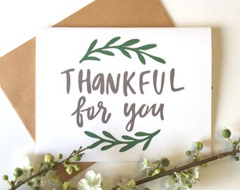 Thankful for You Cards, Thankful for You Gifts, Thankful Card Set, Thanksgiving Greeting Card, Thankful Greeting Card, Thank You Card Set
