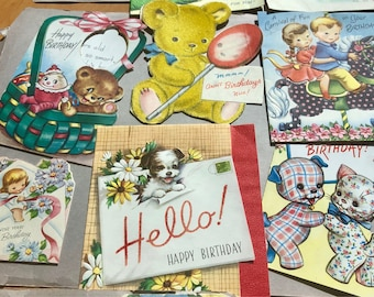 50s Birthday cards for Children 15 available