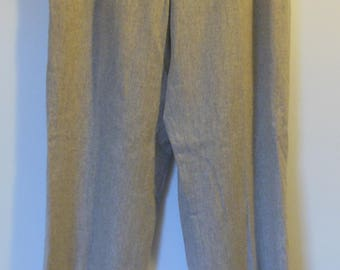 Beautiful Vintage Ralph Lauren Straight Leg Trousers Beige Wool Fully Lined Size 6