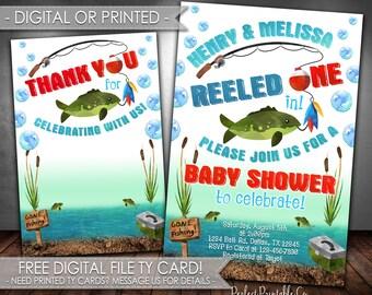 Wonderful Fishing Baby Shower Invitation, Fish Baby Shower Invitation, Fishing  Invitation, Fishing Invite,
