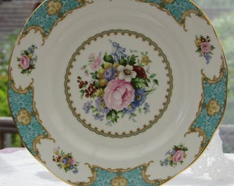 Royal Albert, Lady Ascot, Large Serving Plate, Bread and Butter Plate, 1st Condition, Dining Plate, Bone China Plate, Vintage Plate