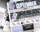 Unicorn Farts Monthly Kit (CHOOSE YOUR MONTH!)- Planner Stickers