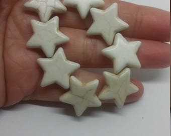 8pc star howlite turquoise pendant bead 629