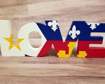 Acadiana Lafayette Love wooden sign, Louisiana, Cajun, Louisiana Art, Lafayette, Acadiana, Acadian, LA