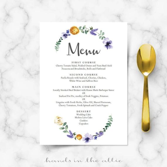 Wedding dinner menu cards for wedding buffet menu ideas for Ideas for dinner menu