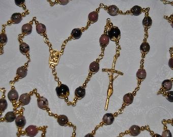 Rhodonite Lourdes Rosary