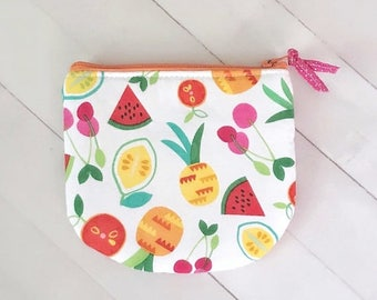 SUMMER SALE Tropical fruit summer zipper pouch coin purse credit card pouch