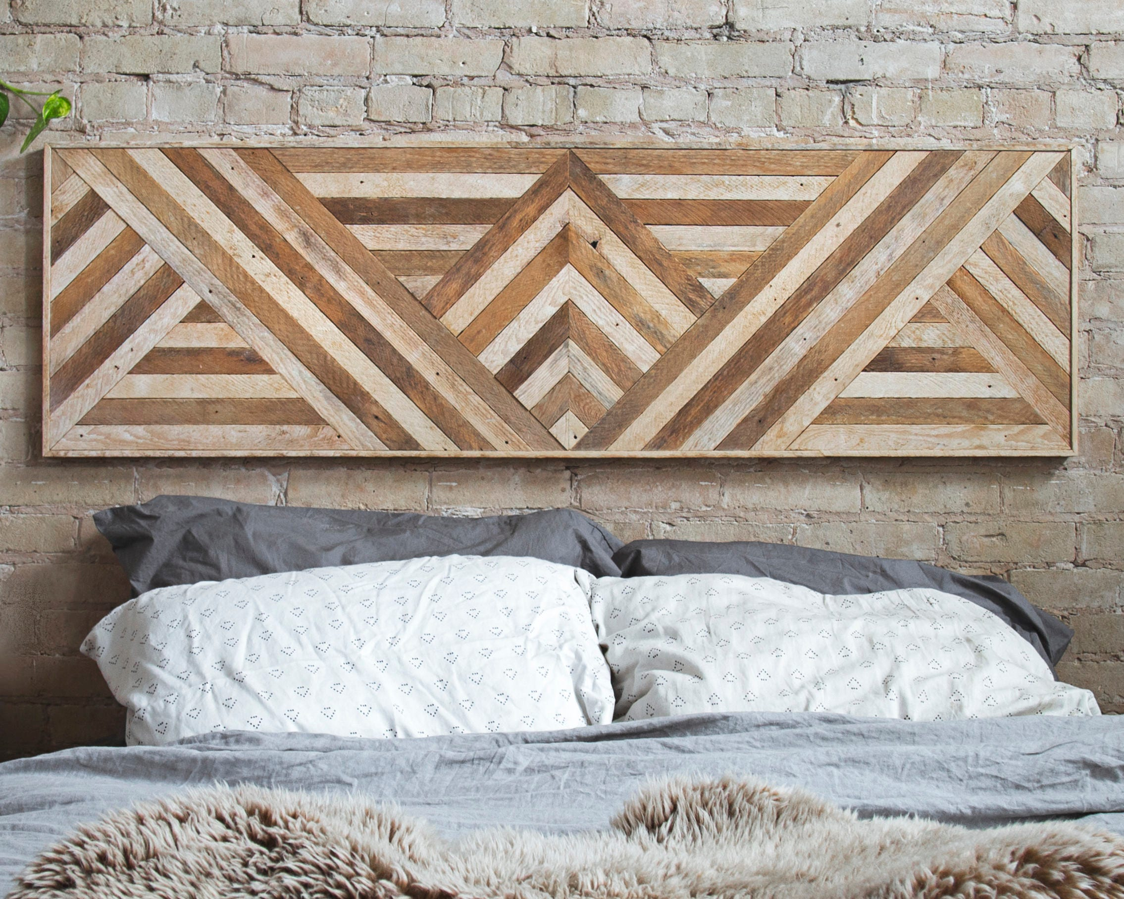 Reclaimed Wood Wall Art Queen Headboard Wood Wall Decor