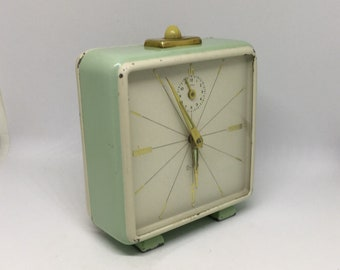 2-ton clock, Alarm Clock, Vintage Alarm clock, 2-Ton Alarm clock, German Alarm Clock, 60s retro clock, Vintage Desk Clock, Office Clock