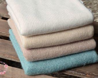 Stretch knit wraps MARTHA,thick,super soft,4 colours,brown,beige,cream,blue,newborn photography props,UK seller