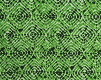 "Tie Dyed Print, Indian Dress Fabric, Quilt Material, Green Color Fabric, 42"" Inch Cotton Fabric By The Yard ZBC9108A"