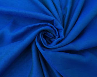 """Dressmaking Faux Silk Fabric, Home Decor, Royal Blue Fabric, Sewing Crafts Accessories, 44"""" Inch Fabric By The Yard PZS2A"""