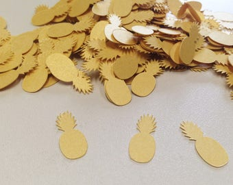 Pineapples confetti, Gold Pineapples, Pineapples Party, Babyshower, Wedding, Bridal shower, Decoration, Tropical party