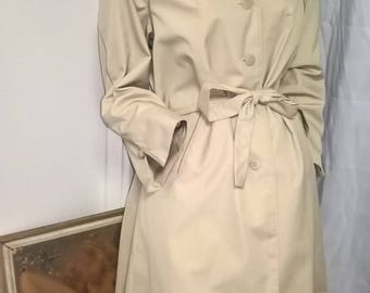 Ralex Vintage beige 70s belted water resistant trench coat size 10/S