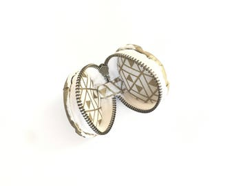 Gold Macaron coin purse