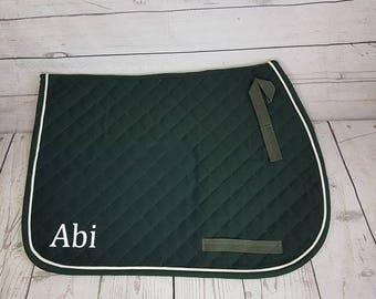 Personalized English Saddle Pad Blanket Horse Tack