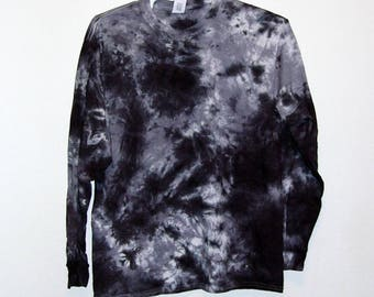 Tie Dye Crinkle Long Sleeve T Shirt Adult Sizes