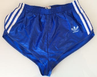 1970s ADIDAS RACER NYLON Made in West Germany Vintage Gym Shorts