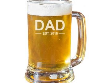 Dad Beer Mug, Fathers Day Gift, Christmas Gift, Husband Gift, Gift For Dad, Engraved Beer Mug