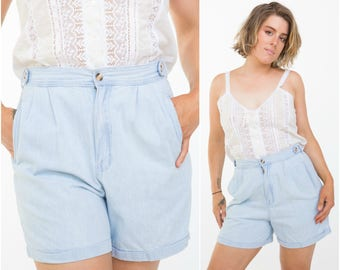Light Denim Shorts / Summer Essential / Size M