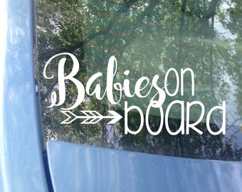 Babies on board Window Decal | Car Decal | New Baby | Baby Shower Gift | Baby on board Sticker | Mom Decal | Child on board | Safety | Van