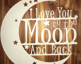 I love you, to the moon