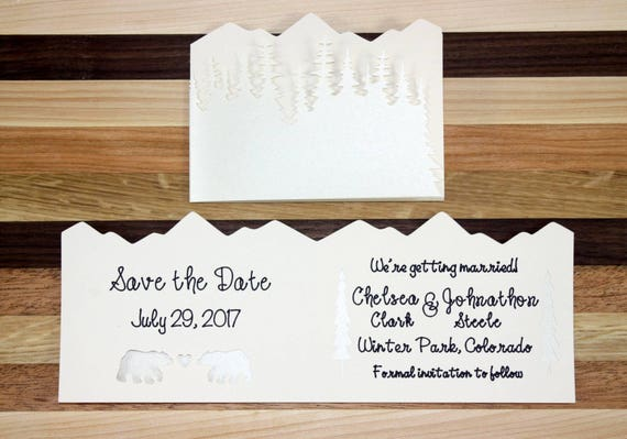 Winter Wonderland Wedding Save the Date