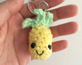 Pineapple amigurumi keychain