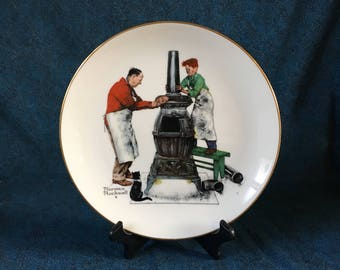 Vintage Gorham Norman Rockwell 1986 Collectors Plate, Before the Shot