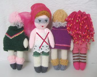 Knitted wool doll
