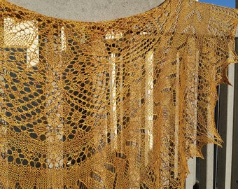 High desert lace shawl
