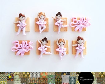 Ballerina Fridge Magnet Set