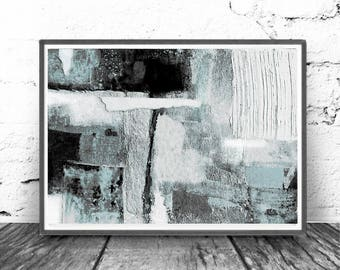 Light Blue & White Print, Abstract Art Print , 8 x12,  minimalism art, gray , black, art Minimal , modern art blue, Scandinavian Design,
