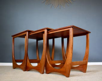 SOLD: Vintage G Plan Fresco Teak Nest of Tables Retro Mid Century 50s 60s 70s